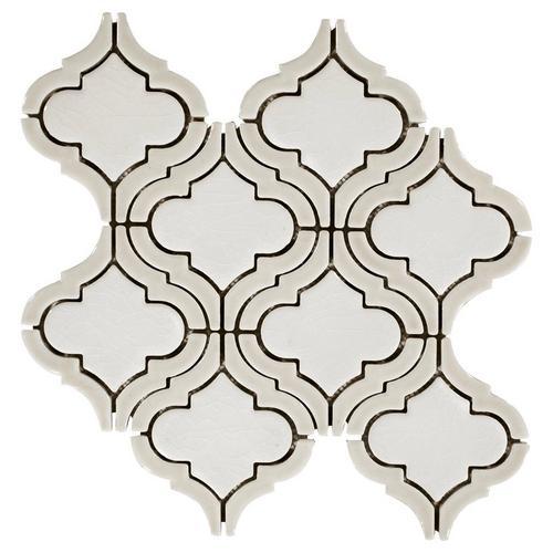 Clay Frame Arabesque Porcelain Mosaic - 12 x 12 - 100341619 | Floor ...