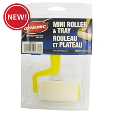 New! Dynamic HB001757 Mini Paint Roller and Tray