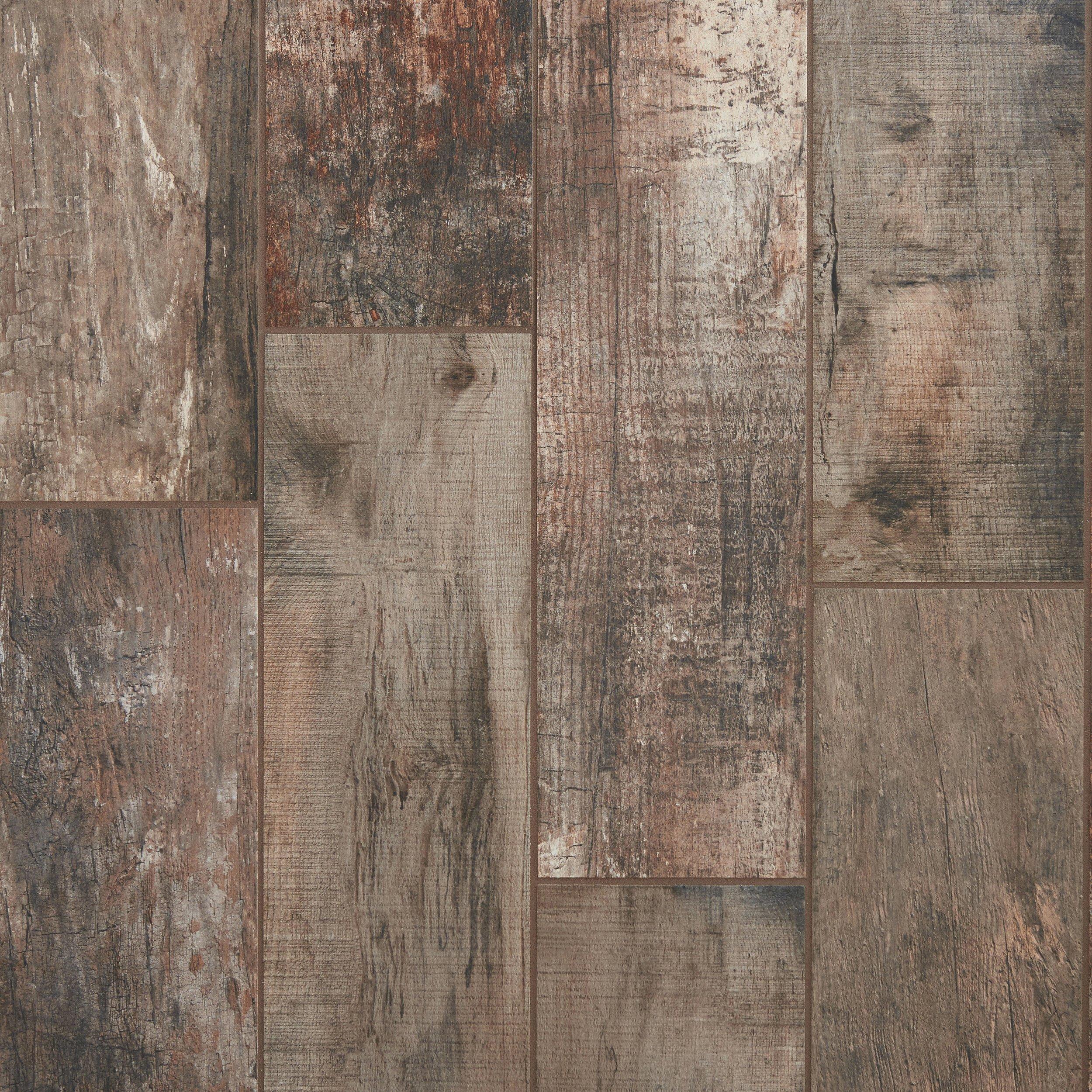 Roanoke Multi Wood Plank Porcelain Tile 8 x 32 100344217
