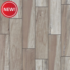 New! Tahoe Silver Wood Plank Porcelain Tile