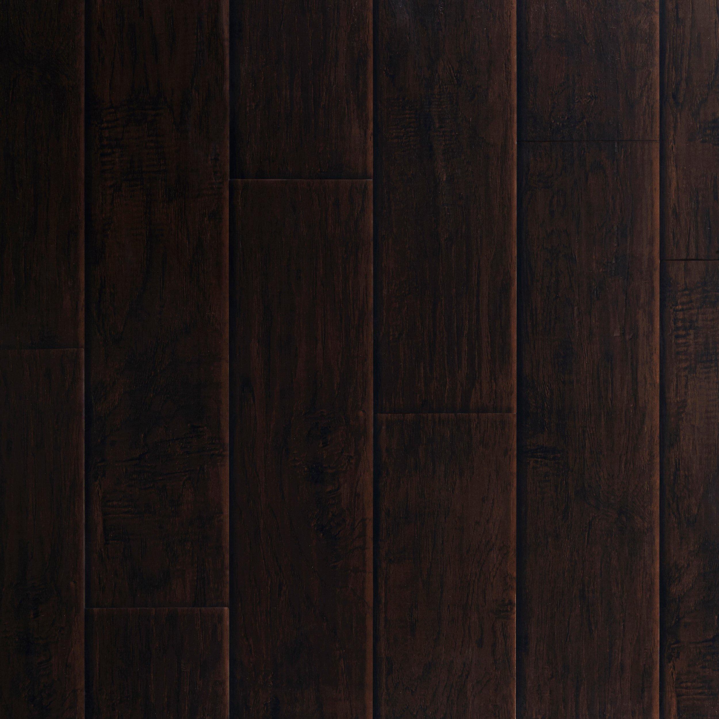 Dark Hampton Hickory Hand Scraped Luxury Vinyl Plank 42mm