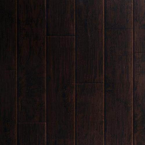 Dark Hampton Hickory Hand Scraped Luxury Vinyl Plank