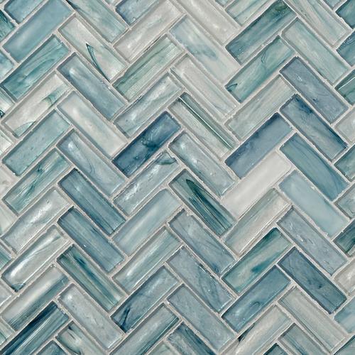 Neptune Herringbone Matte Glass Mosaic 12 X 12 100344621 Floor