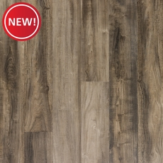 New! NuCore Ombre Gray Hand Scraped Plank with Cork Back