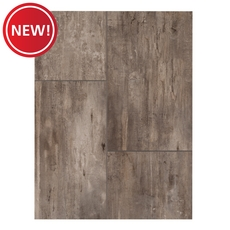 New! NuCore Gray Tile Plank with Cork Back