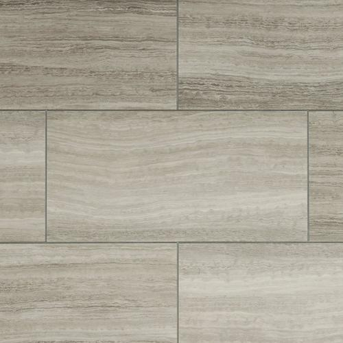 Gray Grouted Rigid Core Luxury Vinyl Tile Cork Back 6 5
