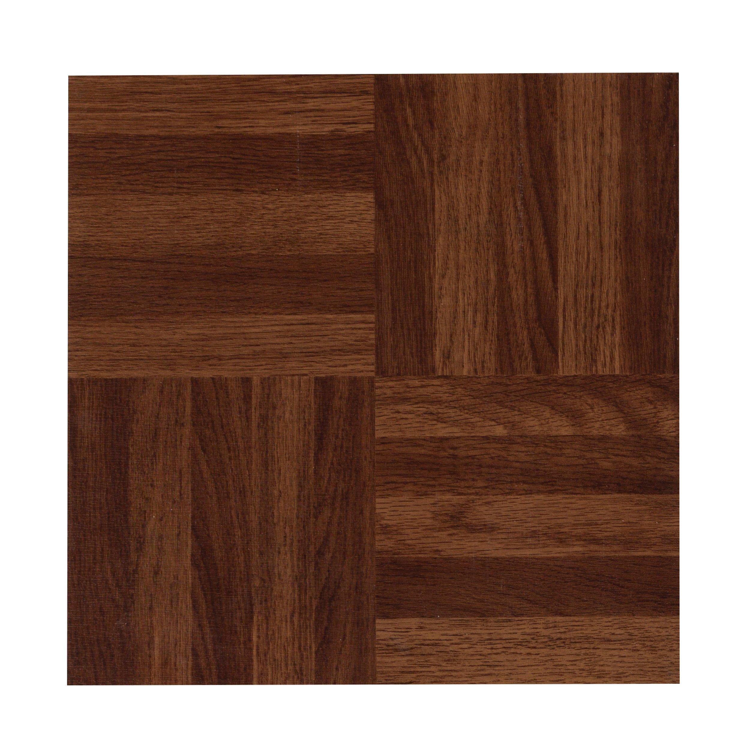 Parquet Red Luxury Vinyl Tile 12in X 12in 100376961 Floor
