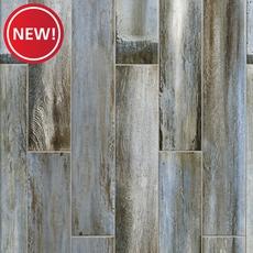 New! Lexington Blue Wood Plank Porcelain Tile