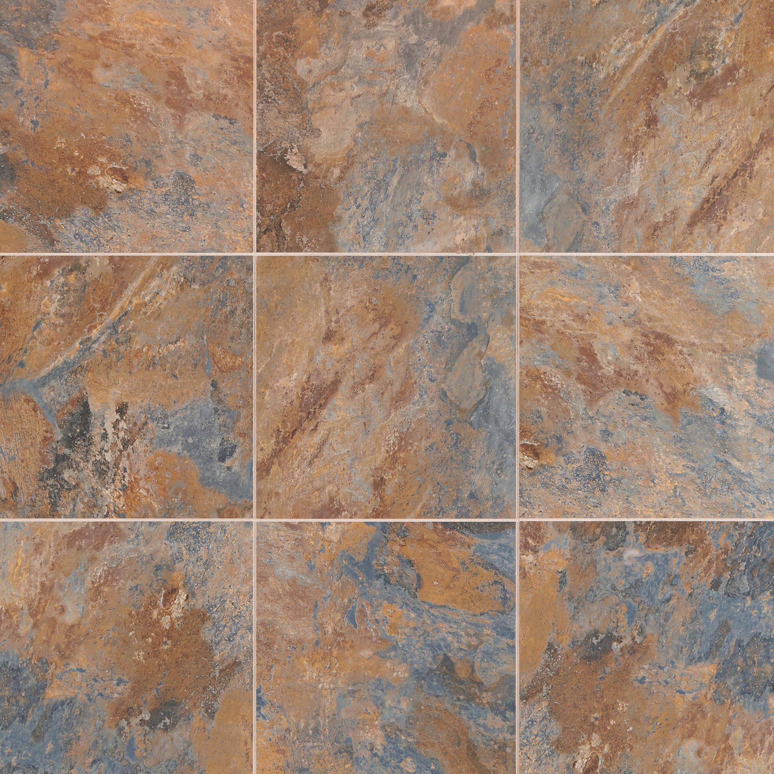 Blue Gray Slate Luxury Vinyl Tile 12in x 12in 100384205