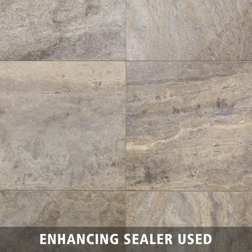 Supreme Silver Honed Filled Travertine Tile 18 X 18 100402403