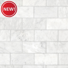 New! Carrara Milano Honed Marble Tile
