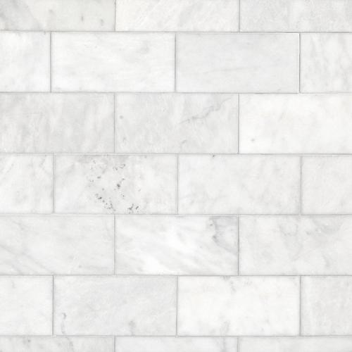 Carrara Milano Honed Marble Tile 6 X 12 100402569 Floor And