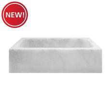 New! Carrara Milano Marble Sink