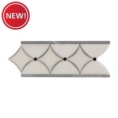 New! Bardiglio Paper White Marble Border