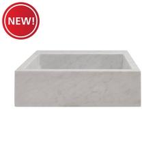 New! Bianco Carrara Marble Sink