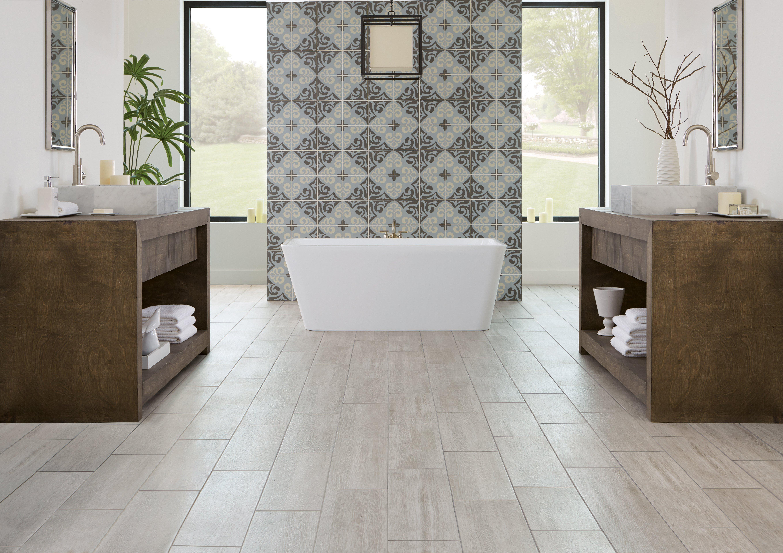 ... Bathroom 16: Ronne Gris Ceramic Tile, Bedford Deco Porcelain Tile, ...