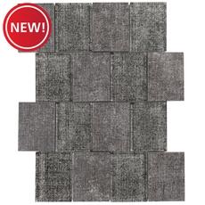 New! Montage Graphite Denim Multi Finish Glass Mosaic