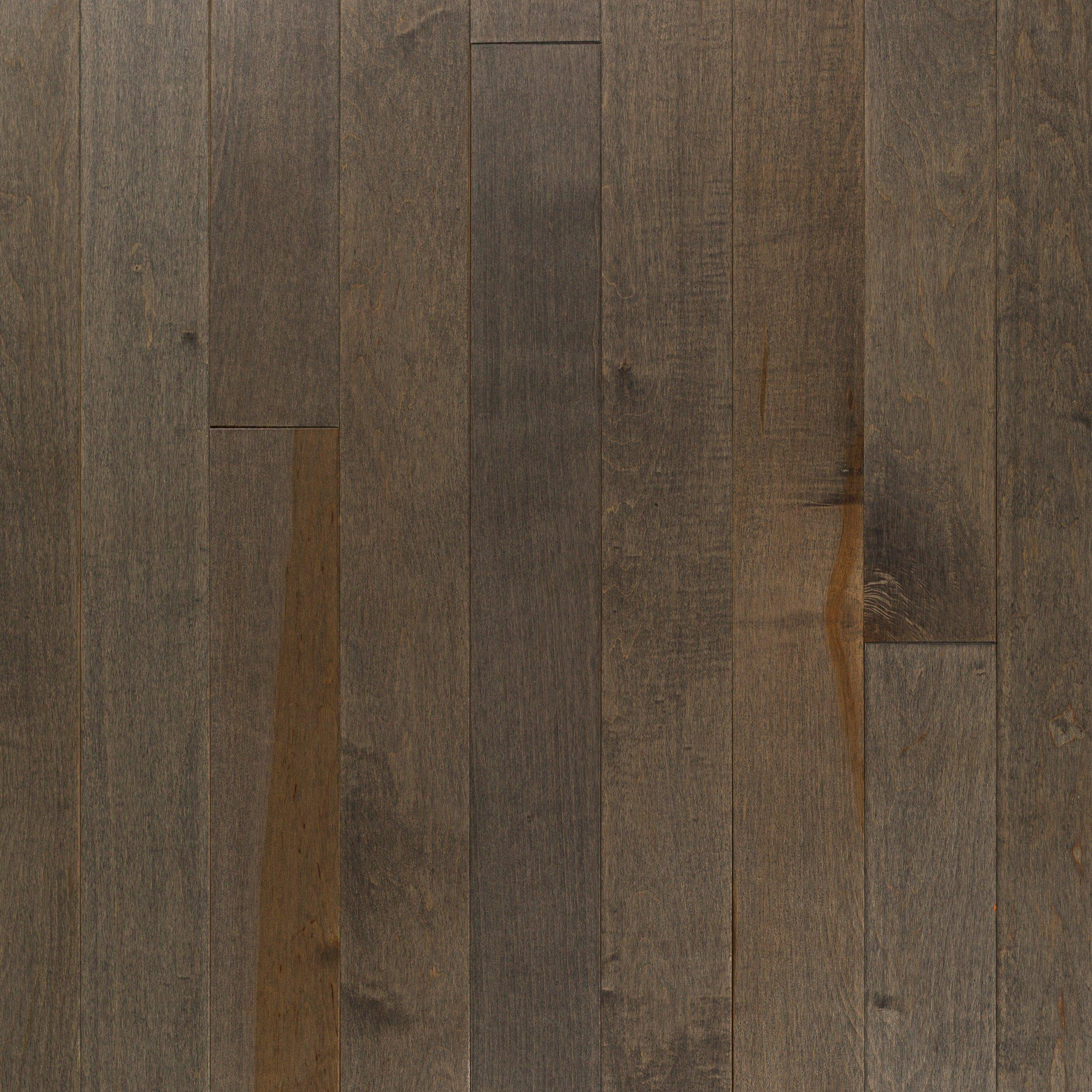 Heritage Gray Maple Smooth Solid Hardwood 3 4in X 4in