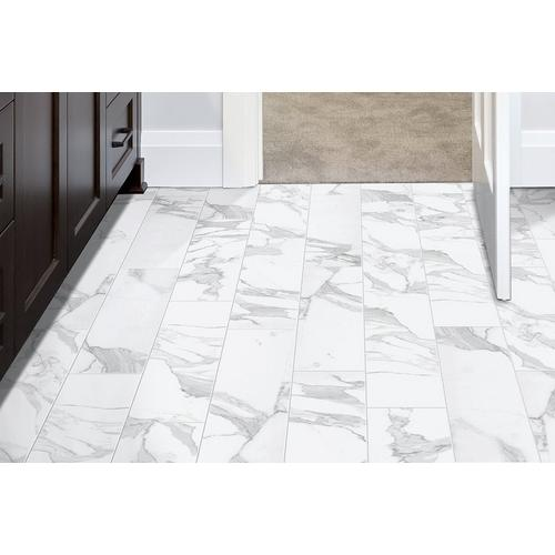 Dimarmi Bianco Stone Look Porcelain Tile 6 X 24 100434638 Floor And Decor