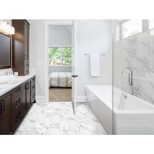 Dimarmi Bianco Stone Look Porcelain Tile - 6 x 24 - 100434638 ...