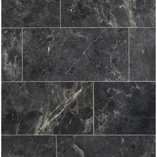 Silver Black Polished Marble Tile 12 X 24 100434711 Floor And