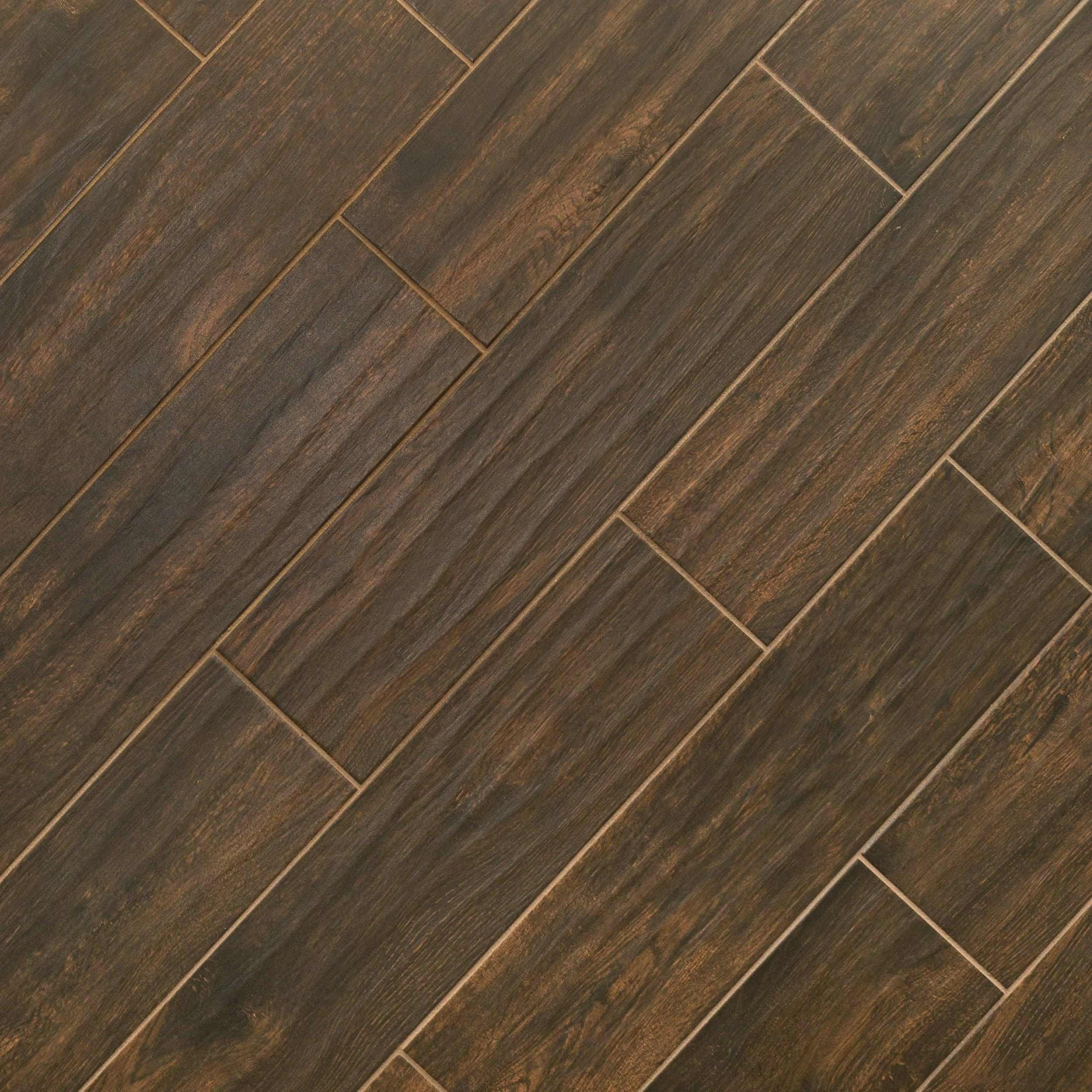 burton walnut wood plank porcelain tile 6in x 24in floor and decor