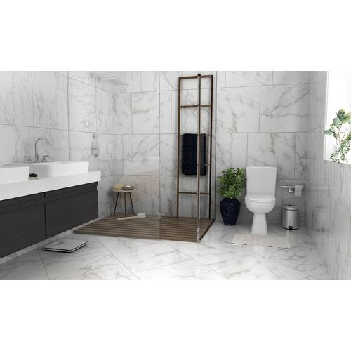 Carrara White Polished Ceramic Tile 24 X 24 100438670 Floor