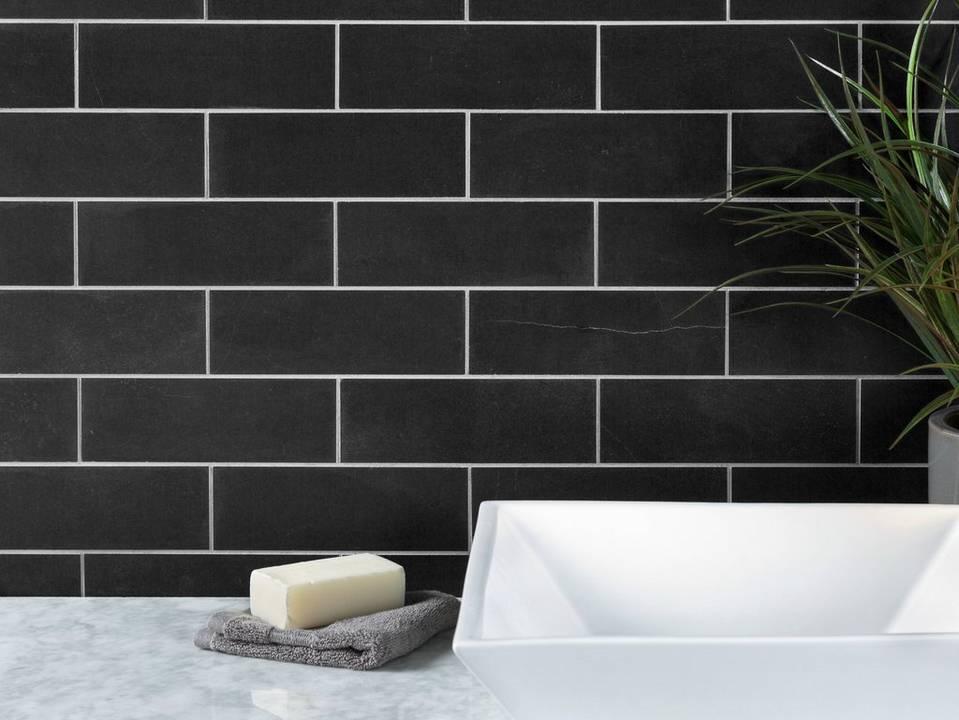 Samba Black Slate Tile 10009424
