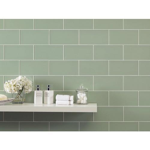 Veranda Glass Tile 6 X 12 100465731 Floor And Decor - Green-bathroom-tile