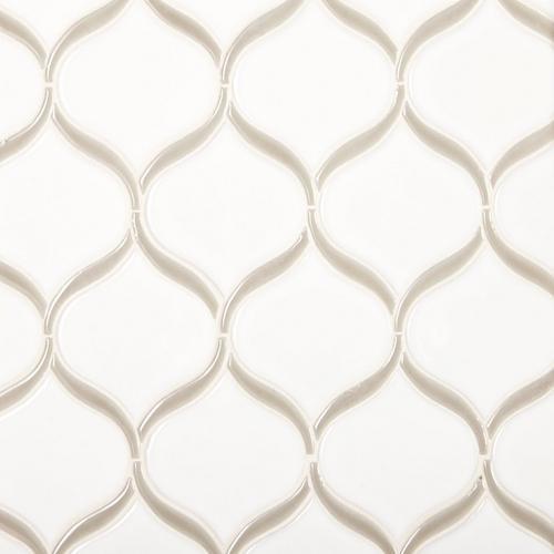 Gray Frame Tear Polished Porcelain Mosaic - 10 x 10 - 100466002 ...