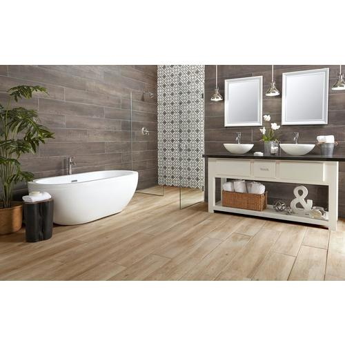Truewood Cream Wood Plank Porcelain Tile - 9 x 47