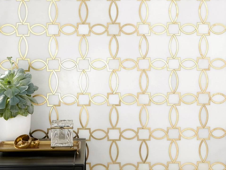Phoenix White Marble Waterjet mosaic