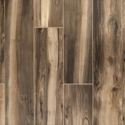 English Walnut Wood Plank Porcelain Tile - 8 x 48