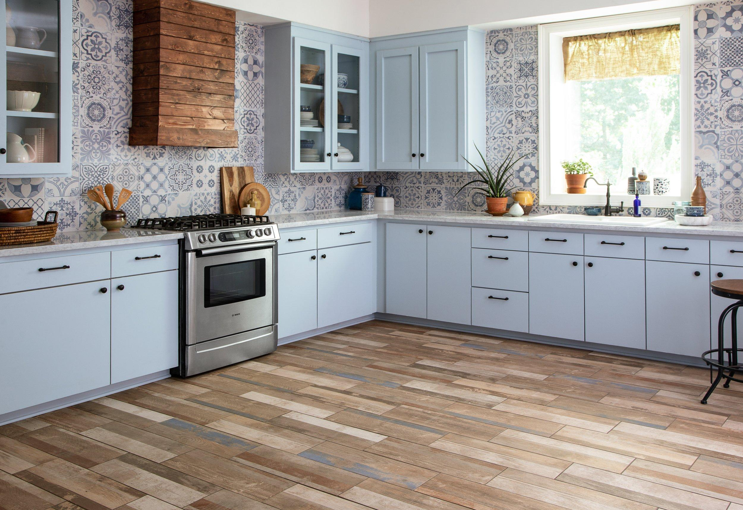 ... Kitchen 15: Albion Harbor Multi Wood Plank Ceramic Tile, Skyros  Decorative Blanco ...