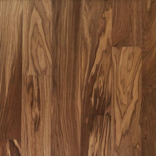 Light Brown Walnut Wire Brushed Water Resistant Engineered Hardwood