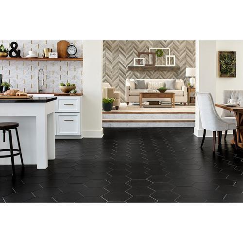Opal Black Hexagon Porcelain Tile 11 X 13 100505361 Floor And Decor