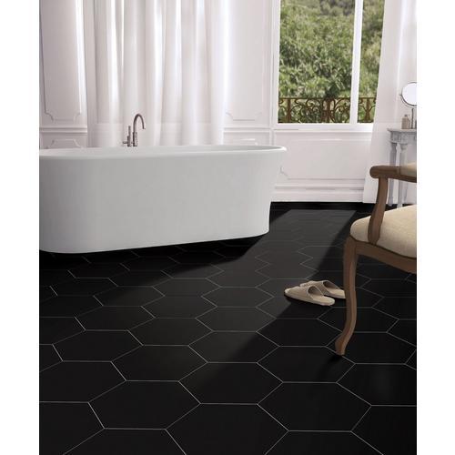 Opal Black Hexagon Porcelain Tile - 11 x 13 - 100505361 ...