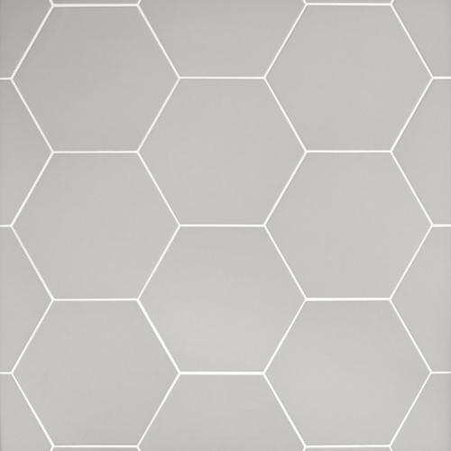 . Opal Gray Hexagon Porcelain Tile   11 x 13   100505387   Floor and Decor