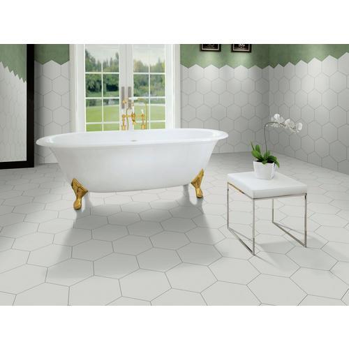 Opal Gray Hexagon Porcelain Tile 11 X 13 100505387 Floor And