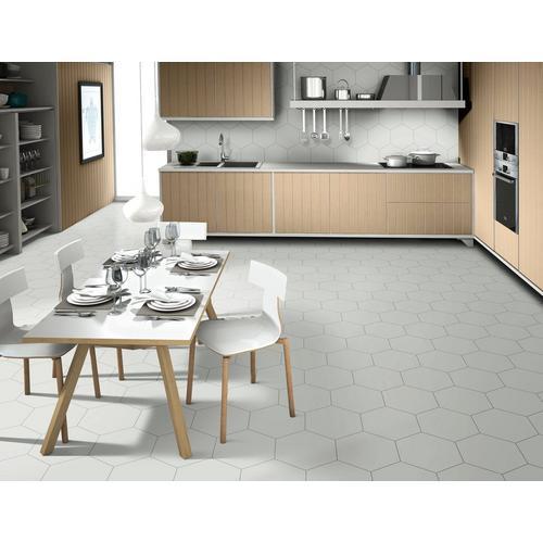 Opal Gray Hexagon Porcelain Tile 11 X 13 100505387 Floor And Decor