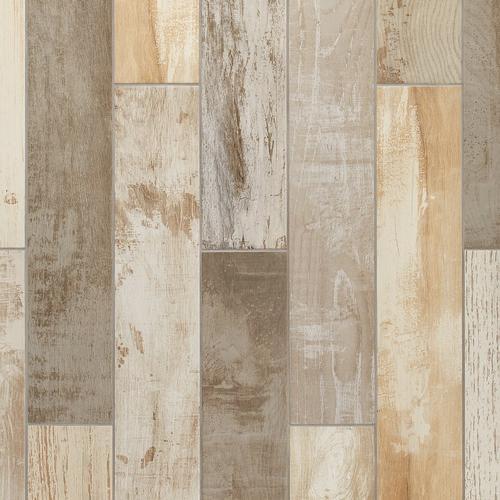Avalon Pier Multi Color Wood Plank Porcelain Tile 6 X 36