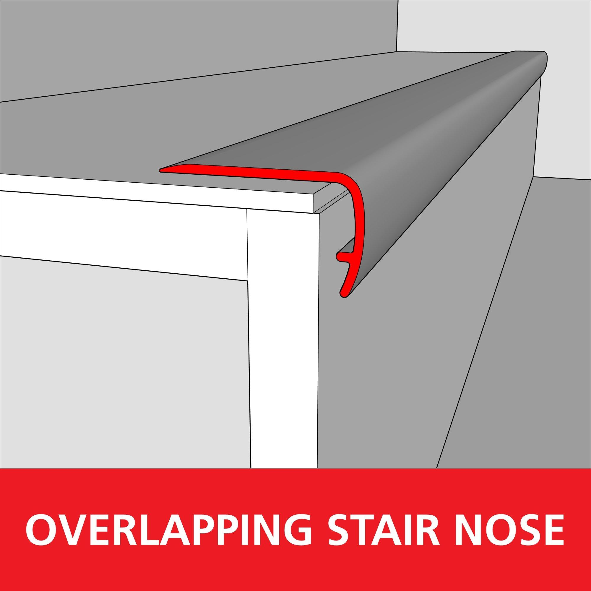 Color 7385 Medium Vinyl Overlapping Stair Nose 94in 100505809 Floor And Decor