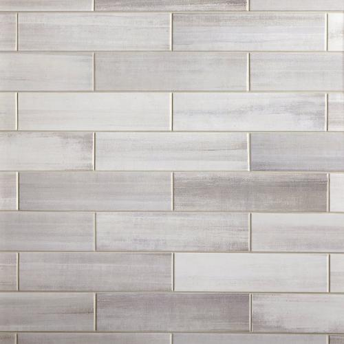 Linen Shadow Polished Ceramic Tile 4 X 16 100506112 Floor And