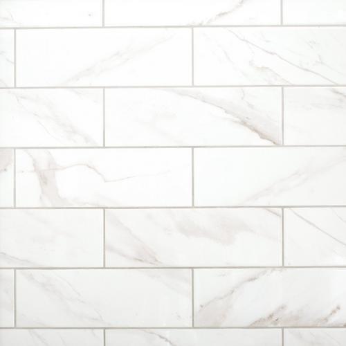 Prestige Calacatta Polished Ceramic Tile 6 X 18 100507862 Floor And Decor