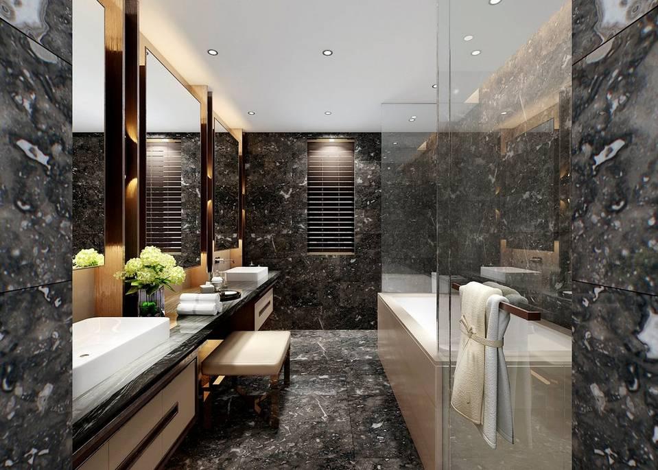 Centurion Gray Marble Bathroom
