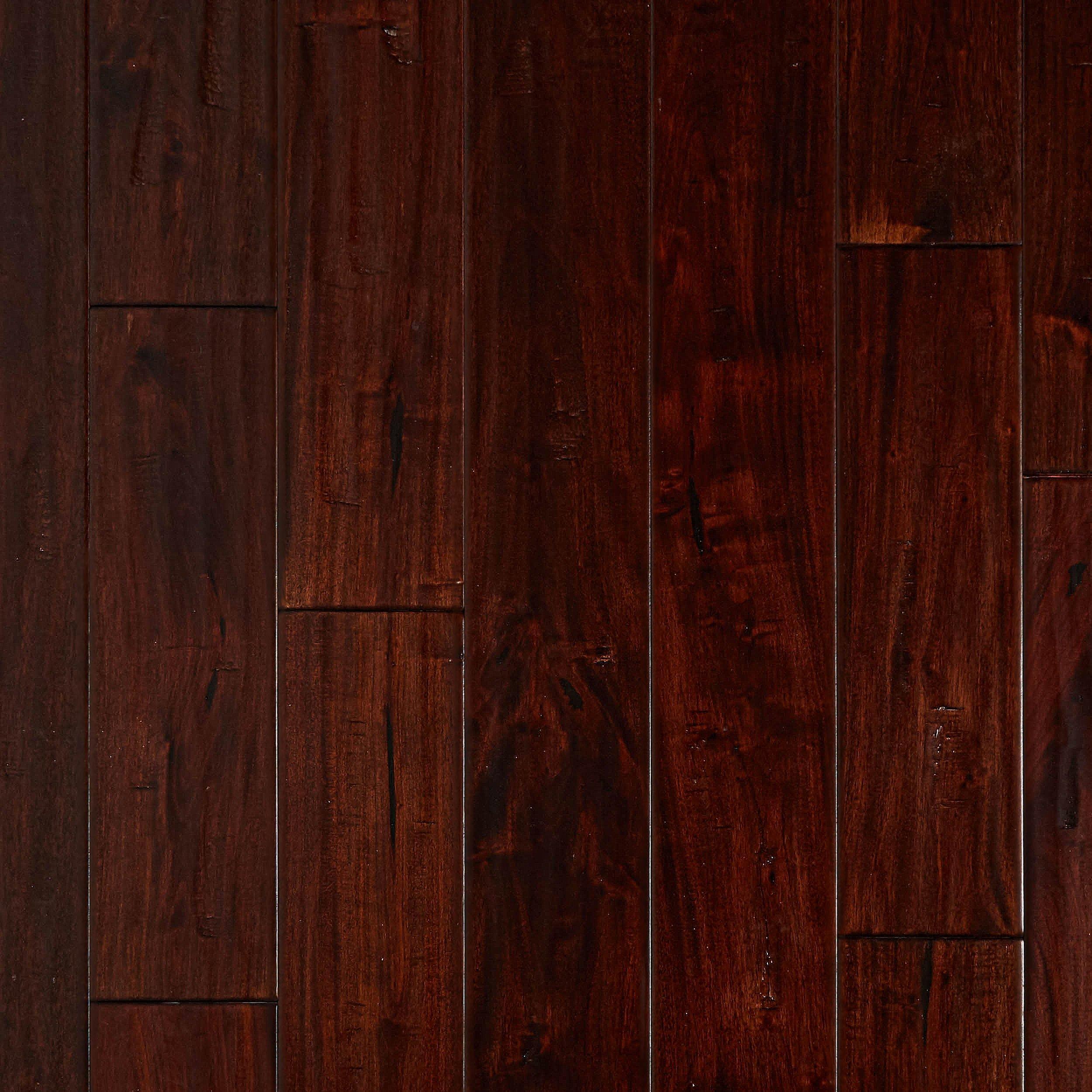Lavella Mahogany Handscraped Solid Hardwood 5 8in X 4 3 4in