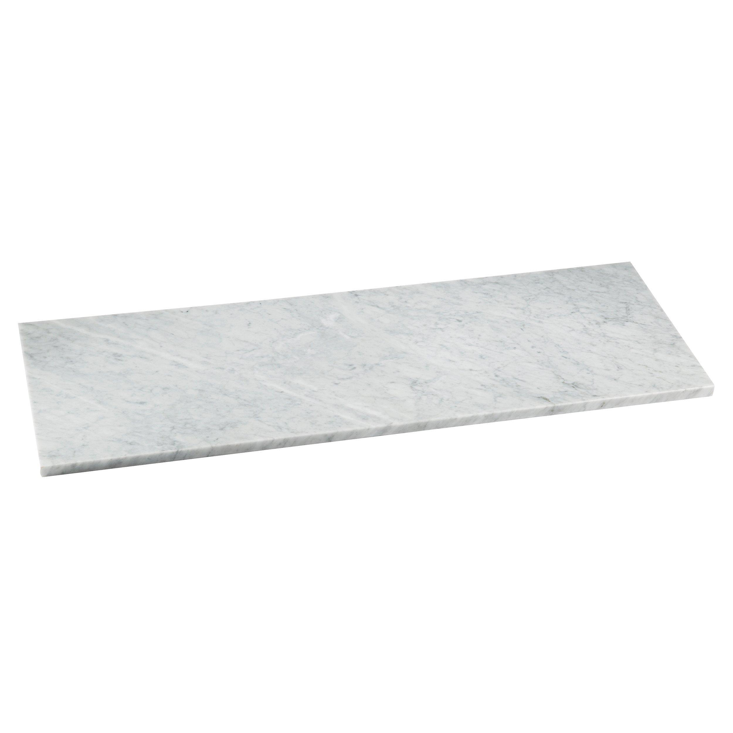 Carrara Marble Carrara Marble 17 X 49 In Rectangle Shower Bench