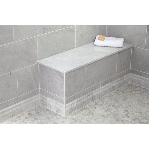 Carrara Marble 17 X 49 In Rectangle Shower Bench 17 X 49