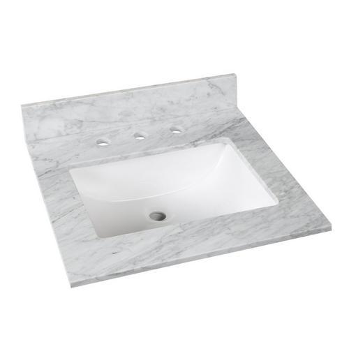 Bianco Carrara Marble 25 In Vanity Top 25 X 22