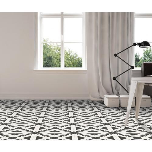 Apache Black And White Matte Porcelain Tile 8 X 8 100585454 Floor And Decor